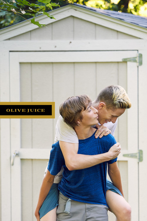 Photograph of two brothers Rochester MN | Olive Juice Studios -