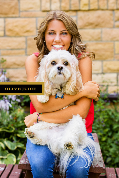 Senior photography with dog Rochester MN | Olive Juice Studios -