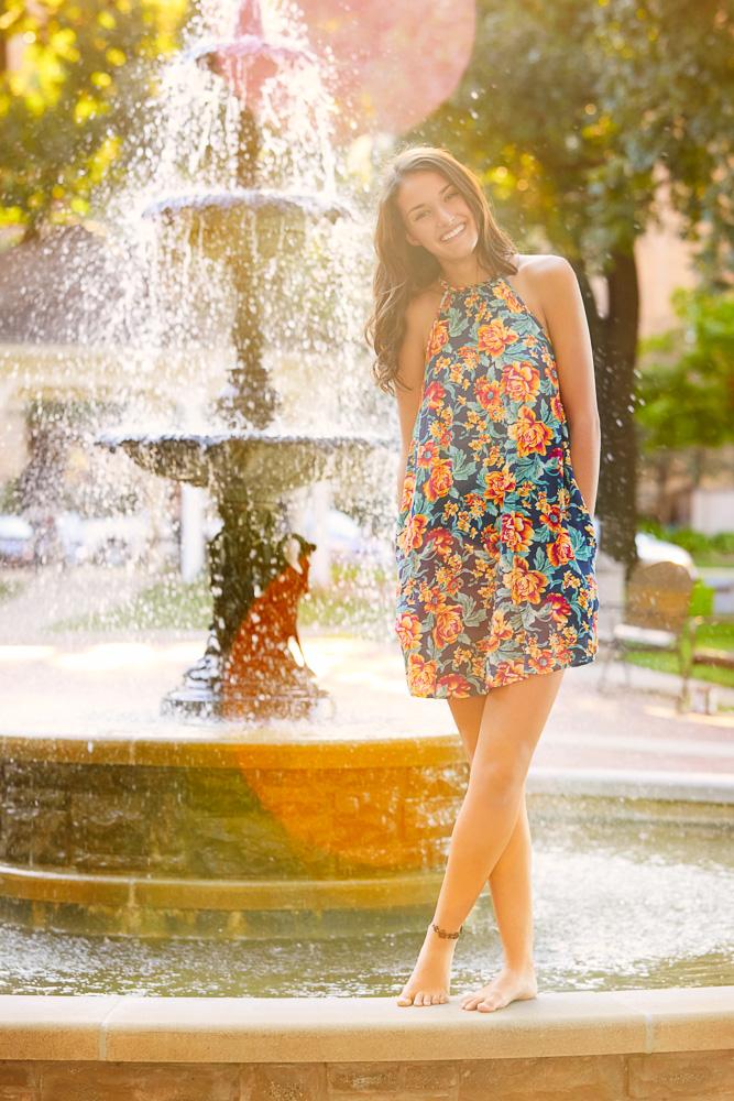 Senior girl sunset photographer Rochester MN | Olive Juice Studios -